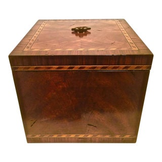 Traditional Mahogany & Barber Pole Banded Box