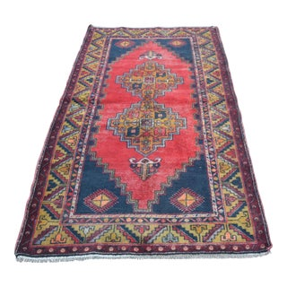 Turkish Handmade Anatolian Carpet - 4′ × 7′1″