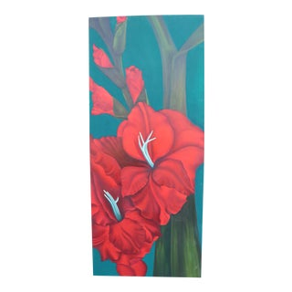 Modern Tropical Floral Painting