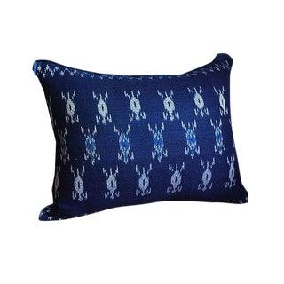Indigo Ikat Laos Textile Pillow