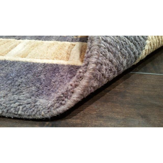 Tibetan Handmade Knotted Contemporary Rug - 5′5″ X 8′5″ - Size Cat. 5x8 6x9 - Image 4 of 4
