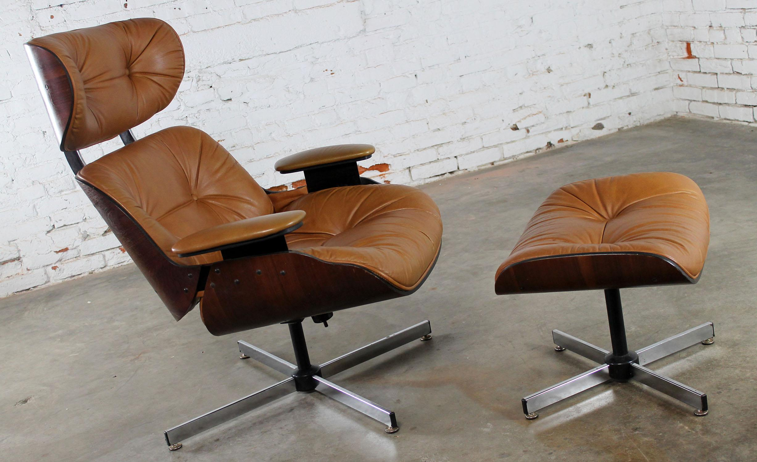 Mid Century Modern Plycraft Eames Style Lounge Chair