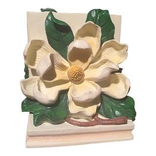 Set of Dogwood Flower Dorothy Draper Style Bookends
