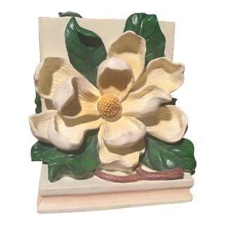 Set of Dogwood Magnolia Flower Dorothy Draper Style Bookends