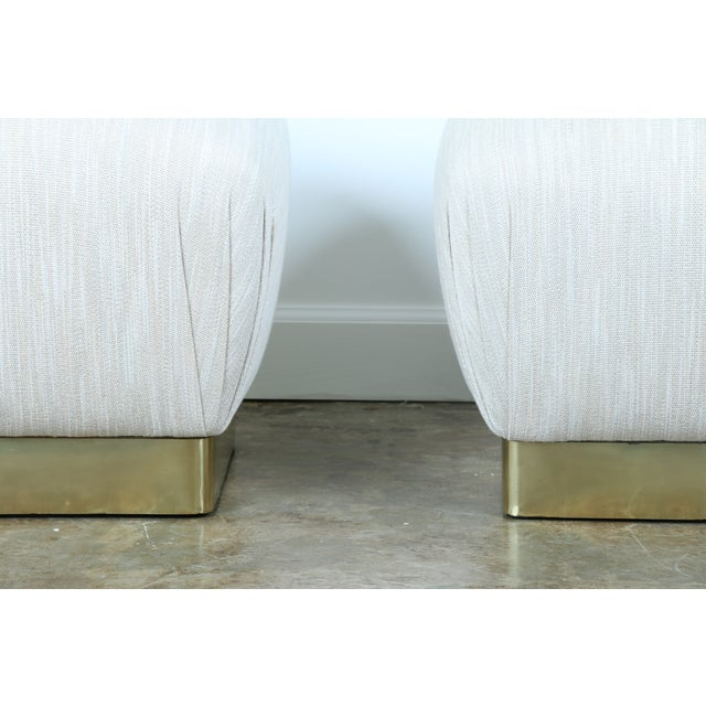 Karl Springer Soufflé Ottomans - A Pair - Image 5 of 10
