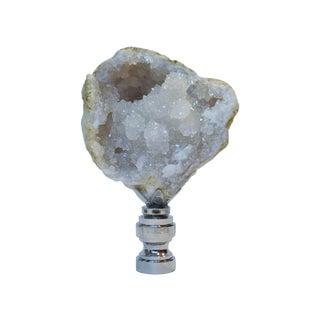 Crystal Geode Finial in Nickel