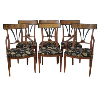 Century Neoclassical Biedermeier Style Dining Chairs - Set of 6