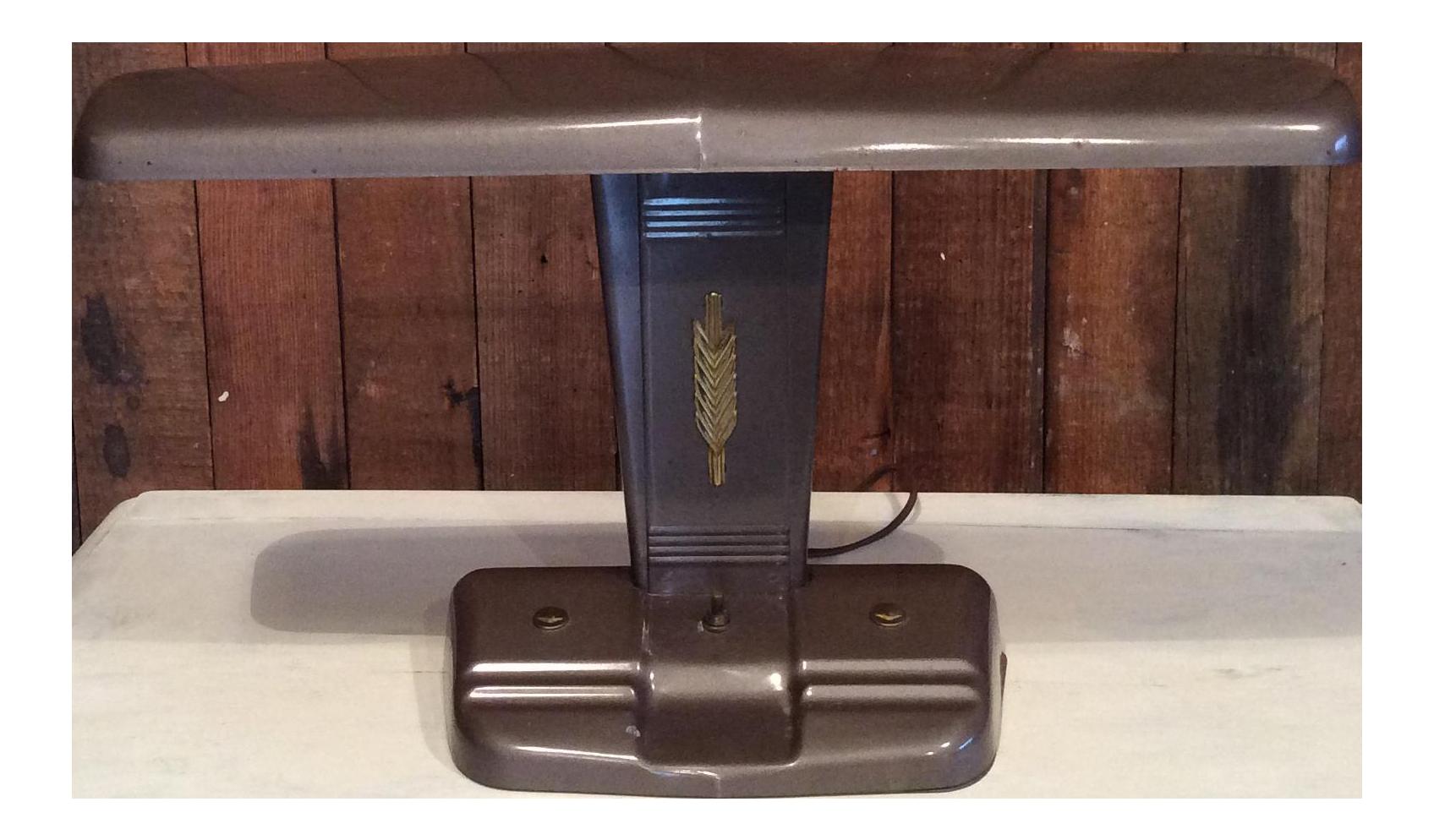 1950s Mid Century Metal Desk Lamp