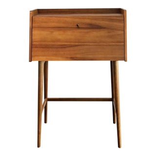 Mid-Century Modern Style Solid Wood Secretary Desk with Hutch
