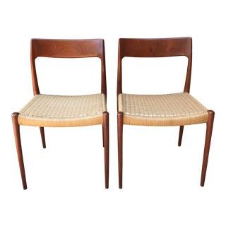 Niels O. Moller Teak Dining Chairs Model 77