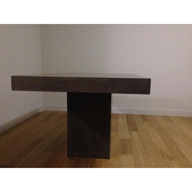 Fuze Grey Dining TableCB Fuze Concrete Dining Table Chairish Fuze - Cb2 concrete dining table