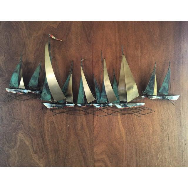 Curtis Jere Metak Boat Sculpture - Image 2 of 3
