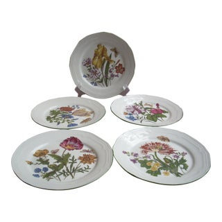 Botanical Dessert Plates - Set of 5