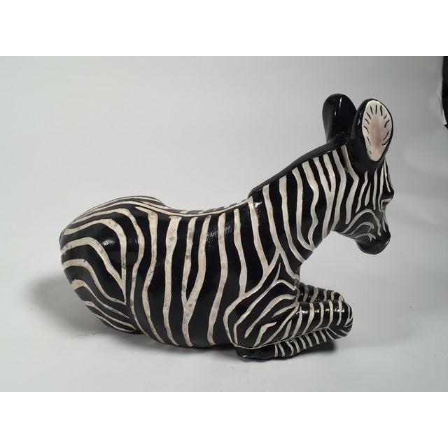 Ceramic Zebra Figure - Image 4 of 5