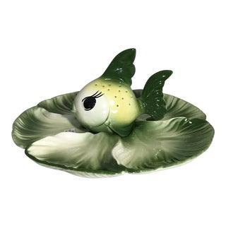 DeForest Green Fish Hor d'Oeuvres Platter