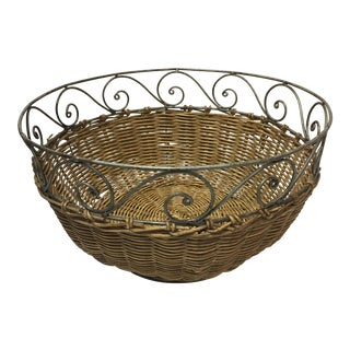 Wire & Wicker Bread Basket