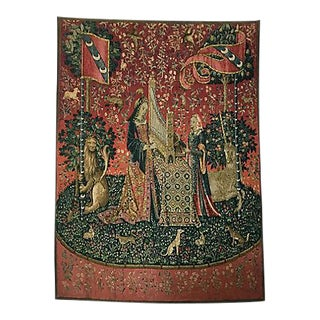 Signed Vintage French Handwoven Wall Tapestry