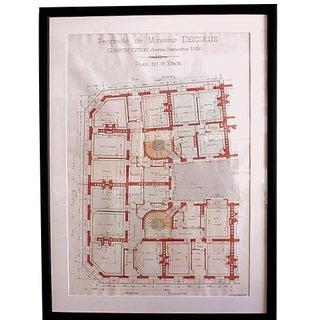Vintage Floor Plan Drawings for Residence in Paris