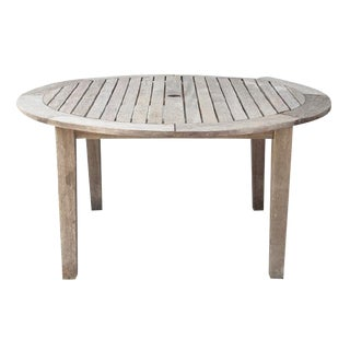 Round Patio Plank Table