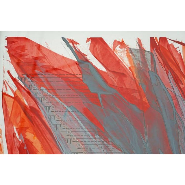 """IR-1534 Red Fire"" Painting - Image 4 of 7"