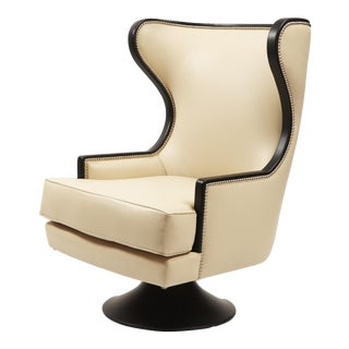 Erin V. Brackpool Wingback Swivel Chair