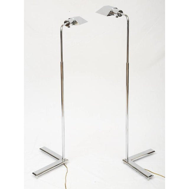 Cedric Hartman Style Chrome Floor Lamps - A Pair - Image 8 of 8