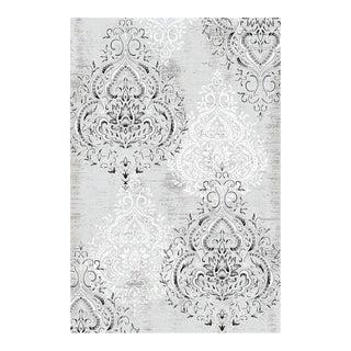 Damask Gray & Ivory - 8' x 10'6''