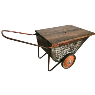 Vintage Industrial Cart Table or Beverage Cart