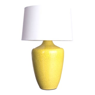 "Yellow Crackle Finish ""Snap"" Lamp"