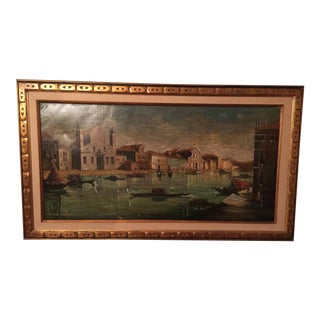 Signed Vintage Painting of Venice, Italy