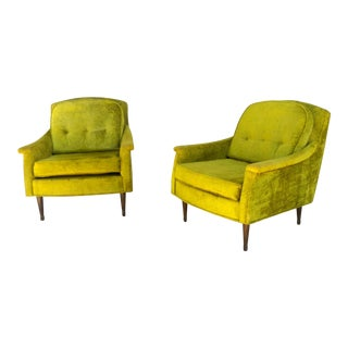 Mid Century Kiwi Club Chairs- Pair