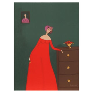Branko Bahunek - Woman With Apples Lithograph