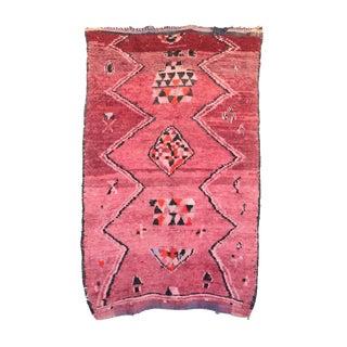 """Vintage Boujaad Moroccan Rug, 5'7"""" x 8'11"""" feet"""