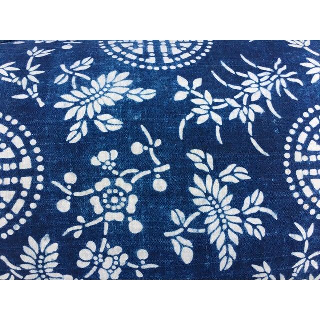 Antique Indigo Batik Pillow - Image 4 of 6
