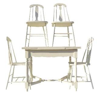 Painted White Farmhouse Dining Set