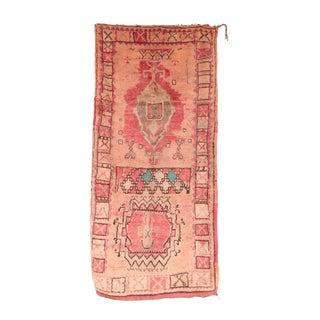 """Vintage Boujad Moroccan Rug - 3'10"""" X 6'9"""""""