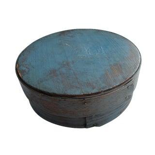 Antique Blue Painted Pantry Box