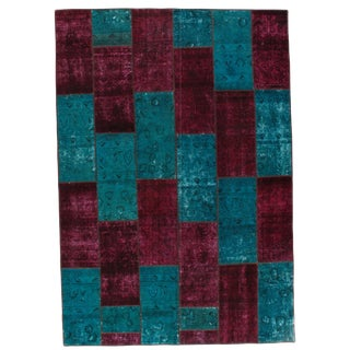 """Pasargad Persian Patch-Work Hand Knotted Area Rug - 6'9""""x9'9"""""""