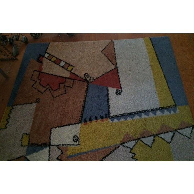 "Mid Century Area Rugs: Vintage Mid-Century Abstract Area Rug - 7'6""x5'5"""