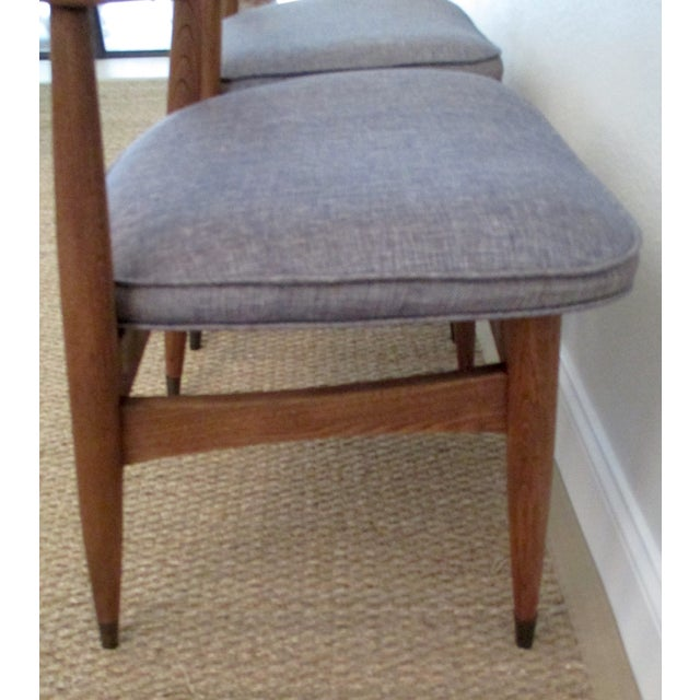 MCM Reupholstered Oak Chairs by Paoli - A Pair - Image 5 of 8