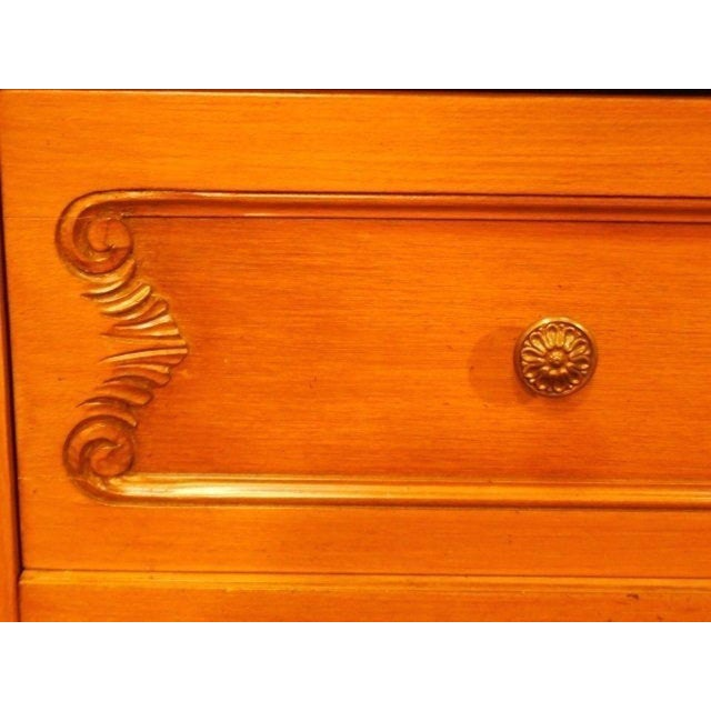 French Provincial Country Walnut Armoire - Image 4 of 8
