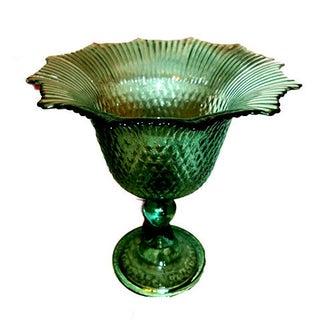Pressed Glass Pedestal Bowl