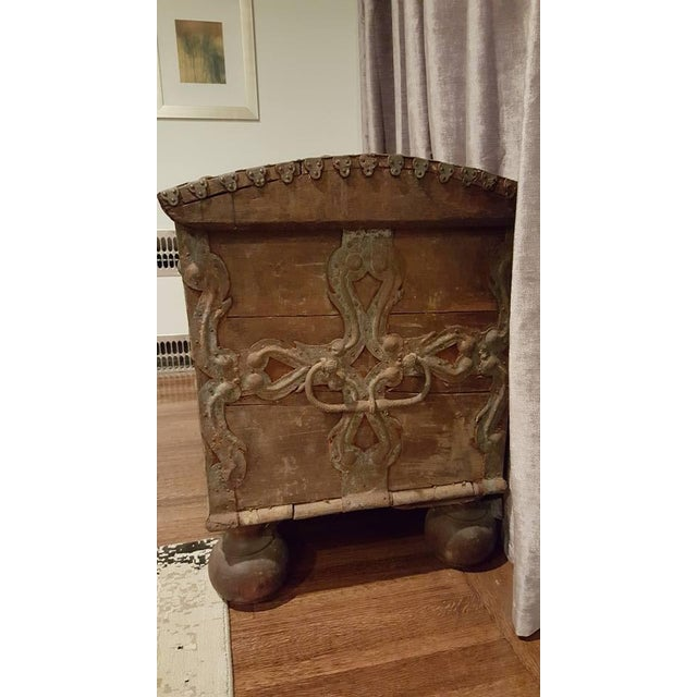17th Century Iron Banded Coffer - Image 6 of 7