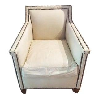 Vanguard Furniture White Leather Chair