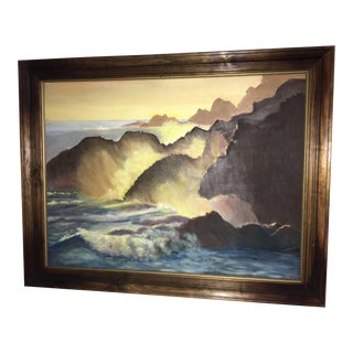 Sea & Mountains Painting on Canvas