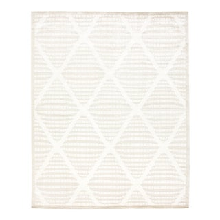 Stark New Oriental Tibetan Tan Wool Rug - 8′× 10'