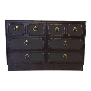 Omega Lacquered Faux-Bamboo Dresser