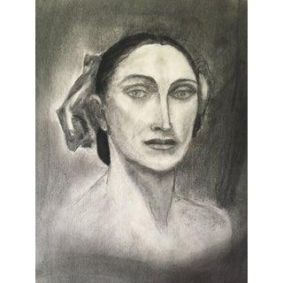 Vintage Charcoal Portrait