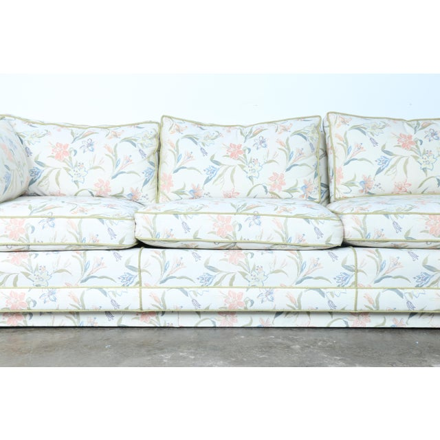 Image of Mid-Century Modern Floral Sofa