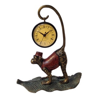 Hanging Metal Monkey Clock